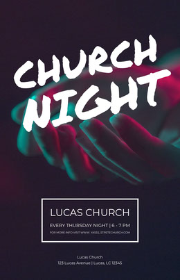 Church night Flyer