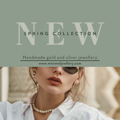 green minimal jewellery spring collection instagram square New Collection