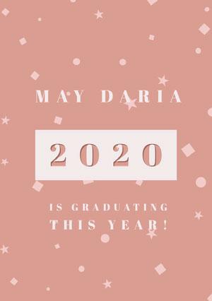 2020 Tarjeta de graduación