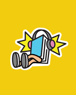 Yellow, COlorful, Flashy Music Related Sticker Instagram Portrait Artists Collection: Adobe Spark Stylemakers