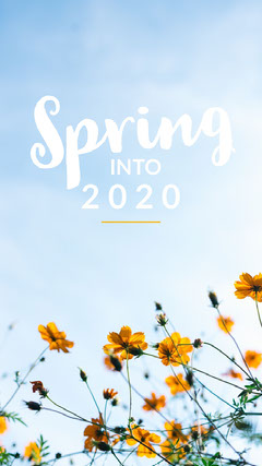 spring into 2020 wallpaper Background