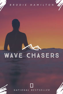 Surfer Wave Book Cover Couverture de livre
