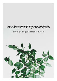 My Deepest Sympathies Sympathy Card