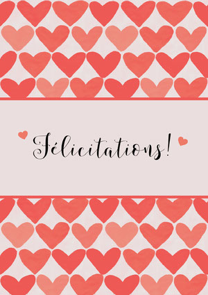 heart patterned congratulations cards Carte de félicitations