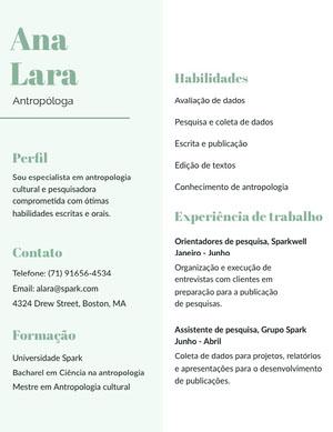 Ana Lara  Currículo