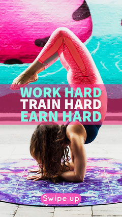 WORK HARD<BR>TRAIN HARD<BR>EARN HARD Health Posters