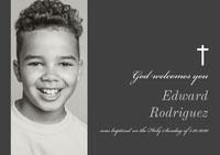 Edward Rodriguez Baptism Invitation