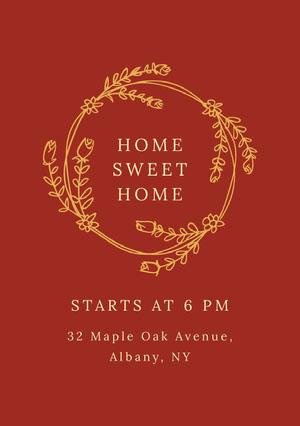 HOME SWEET HOME Housewarming Invitation