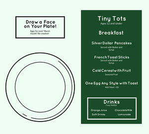 Simple Green Kids Menu Kids Menu