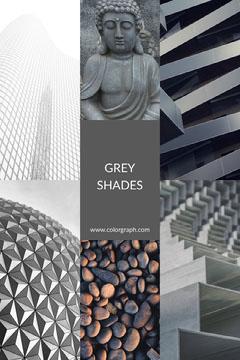 grey shades Pinterest color mood board ad Grey