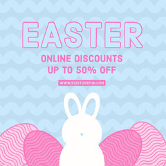 Cyan and Pink Easter Online Shop Sale Instagram Post Ad Easter