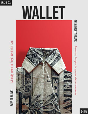 Financial Magazine Cover with Dollar Bill Portada de revista