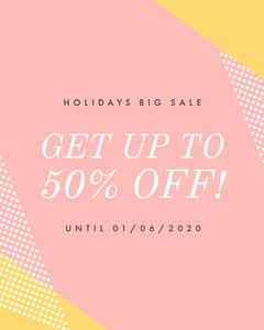 Pink Holidays Big Sale Instagram Portrait Holiday Sale
