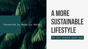 Green and White Botanical Sustainable Lifestyle Presentation Cover Présentation
