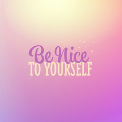 Pink & Purple Gradient Be Nice to Yourself Instagram Square Stars