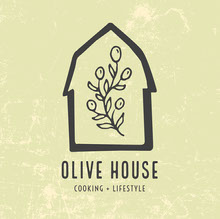 Green and Black Olive House Cooking and Lifestyle Logo Square Logo
