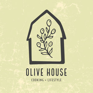 Green and Black Olive House Cooking and Lifestyle Logo Square Logo Instagram