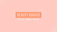 Pink & Orange Beauty Basics YouTube Channel Art Beauty