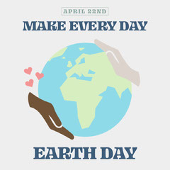 Every day is earth day instagram square Earth