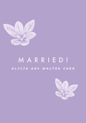 Violet Wedding Announcement 結婚通知