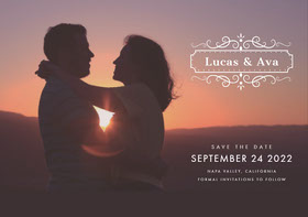 Lucas & Ava Save the date-kort