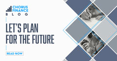 Grey and Navy Diamond Grid Frames 'Let's Plan For The Future' LinkedIn Blog Finance
