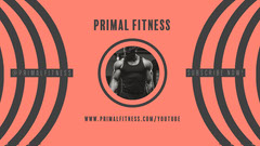 Red and Black Fitness YouTube Channel Thumbnail Fitness