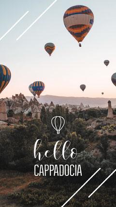 Hello Cappadocia Hot Air Balloon Pinterest  Hello