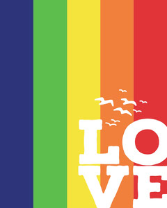 Rainbow Lgbt Support Instagram Portrait Love