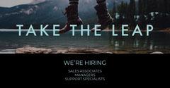 Black With Lake View Hiring Announcement Lake