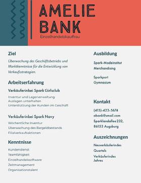 Amelie Bank Professioneller Lebenslauf