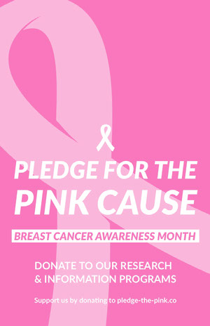 White and Pink Breast Cancer Poster Pink Flyers