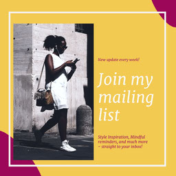 Yellow & Pink Mailing List Instagram Square