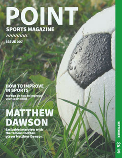 Green, Light Toned Sports Magazine Cover Soccer