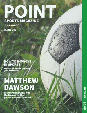 Green, Light Toned Sports Magazine Cover Copertina per rivista