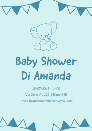 elephant baby shower invitations  Inviti
