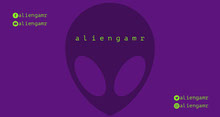 Purple and Green Alien Twitch Banner Banner per Twitch