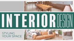 Green Stripe Trendy Interior Blog Banner  Interior Design
