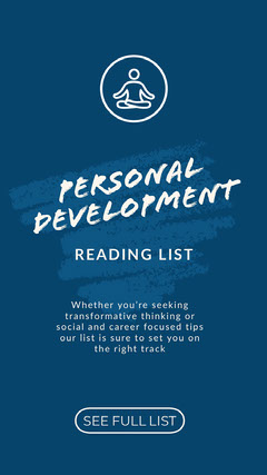Blue and White Personal Development Social Post Career Poster