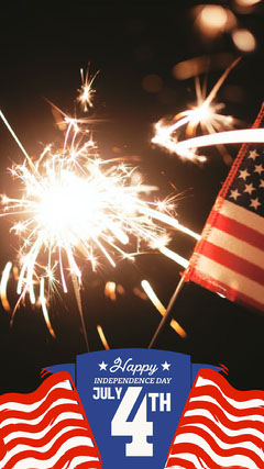 Red and Blue Independence day Snapchat GeoFilter 4th of July