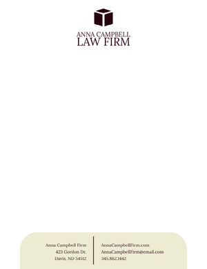 Law Firm Letterhead with Logo Carte intestate