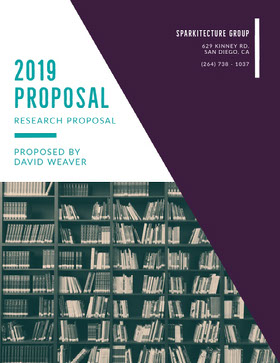 Research and Architecture Business Proposal with Bookshelf Offerta