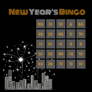New Year's Bingo Bingokarten