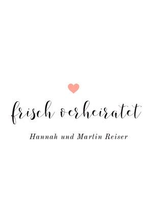 minimalistic wedding announcements  Hochzeitsanzeigen