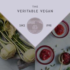 Grey With Vegetables Vegan Bar Instagram Graphic Vegan