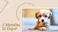 Beige Background Puppy Pet Blog Post Announcement Graphic Animal