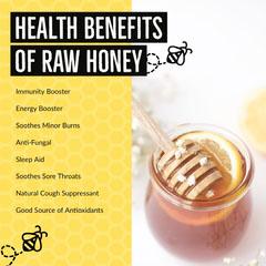 Yellow & Black Honey Health Benefits Instagram Square Health Poster