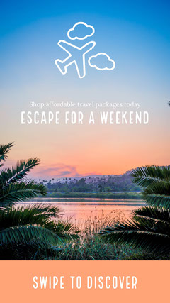 Escape for a weekend Instagram Story