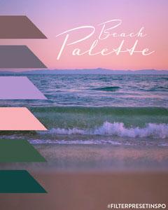Sunset Colors Beach Palette Instagram Portrait Graphic Ocean