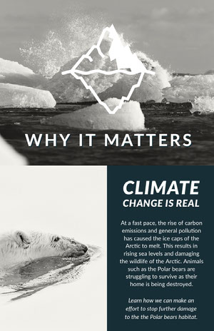 White and Blue Climate Poster Infographic Examples